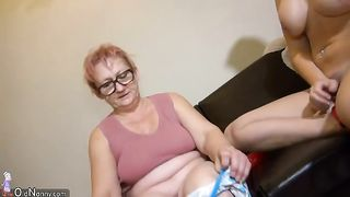 Busty and hot blonde girl is undressed and seduced by granny--_short_preview.mp4