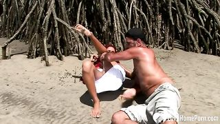 Redhead chick sucking cock and riding on beach--_short_preview.mp4