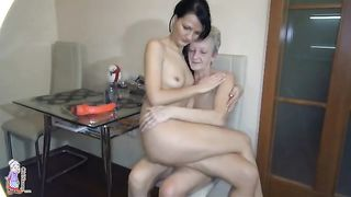 Old lady is licking my delicious pussy in the kitchen--_short_preview.mp4