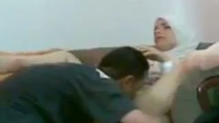 Horny Arab dude eating pussy of his wifey on the couch--_short_preview.mp4