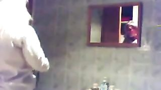 Spy cam filming beautiful blonde flatmate in the bathroom--_short_preview.mp4