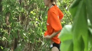 Redhead white stranger girl in bikini hides in the forest and pisses--_short_preview.mp4