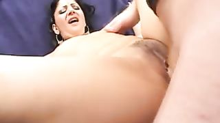 Sweet hot brunette Desi babe on the couch rides on a cock of a white guy--_short_preview.mp4