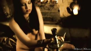 Sensual and voracious hot brunette poses nude by the fire place--_short_preview.mp4