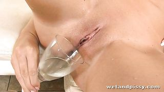 Wickedly hot minx pours the contents of the glass over her naked body--_short_preview.mp4
