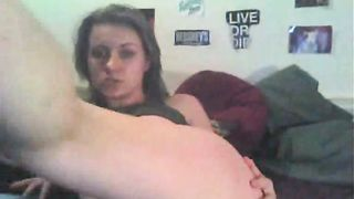 Beautiful and skanky white trash teen on webcam dildoing herself--_short_preview.mp4