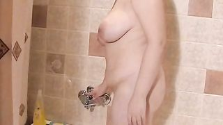 Chunky and lascivious redhead woman in the shower room stripteases--_short_preview.mp4