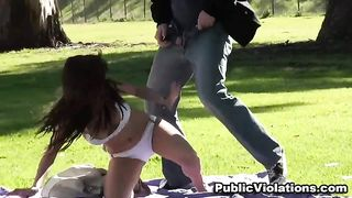 Hot and shameless amateur brunette in the park sunbathing--_short_preview.mp4