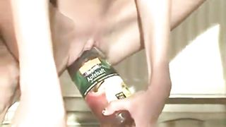 Amateur cam bitch with long legs rides glass juicy bottle on the floor--_short_preview.mp4
