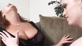 Mature redhead lesbian lets a blonde girl lick her big tits--_short_preview.mp4