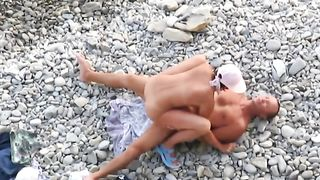 Lewd amateur couple was fucking on the beach and in the sea--_short_preview.mp4