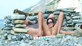 Amazing white cutie on the beach all naked suntanning--_short_preview.mp4