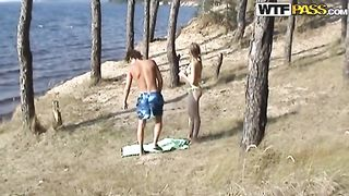 Lovely teen Angelina gives blowjob on the lonely beach--_short_preview.mp4