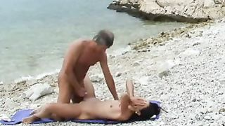 I had captured an awesome sex at the beach of old jerk banging hot brunette--_short_preview.mp4