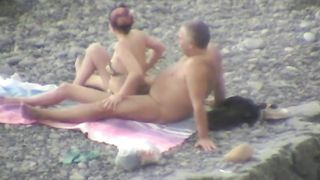 Lewd plump couple had fun while spooning each other on the beach--_short_preview.mp4