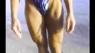 Sportive wrestler chick gives me an interivew on the shore--_short_preview.mp4