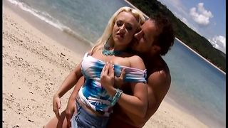Sizzling hot blonde with magnificent tits blows cock on the beach--_short_preview.mp4