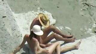 Sunburned lady gets fucked doggystyle on the rocky beach - spy video--_short_preview.mp4