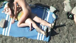 Slender brunette girl eats dick and rides it on the beach--_short_preview.mp4