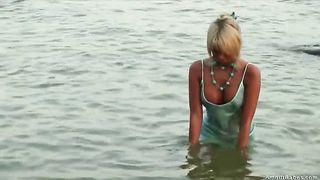 Blonde cutie Masha strips on a beach and shows her nice body--_short_preview.mp4
