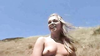 My nasty shameless blonde girlfriend flashes her curves on the rocky road--_short_preview.mp4