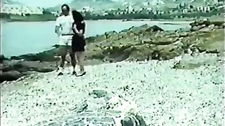 Classic brunette with small tits blowing dick on the beach--_short_preview.mp4