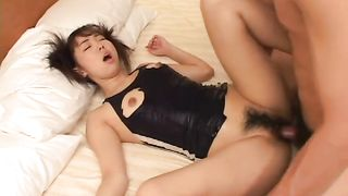 Cute Japanese girl blows hairy cock and fucks in missionary position--_short_preview.mp4