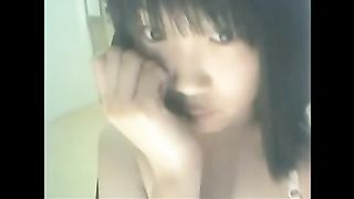 Sweet naughty slim brunette gal played with her tits and dildo--_short_preview.mp4