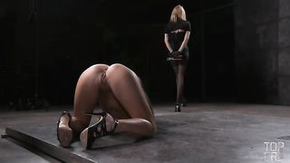 Stunning brunette Asian babe gagged and restrained in doggy style position--_short_preview.mp4