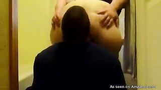 Chubby big bottomed auburn slut pisses and makes dude lick her anus--_short_preview.mp4