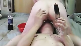 Riding the face of my boyfriend and pouring juice in my ass--_short_preview.mp4