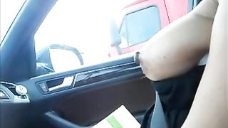 I was driving a car and my GF pulled her big tits out for me to look at--_short_preview.mp4