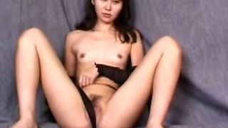 Giggling naturally looking Asian brunette loves to masturbate her twat--_short_preview.mp4