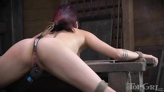 Redhead cutie with narrow eyes gagged and restrained--_short_preview.mp4