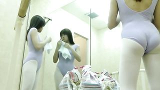 Amateur spy cam vid of some Japanese gals changing clothes in ballet room--_short_preview.mp4