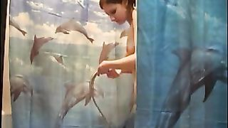My lovely redhead GF takes a shower in homemade video--_short_preview.mp4
