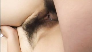 Japanese lady with hairy cooter fingered and fucked on the bed--_short_preview.mp4