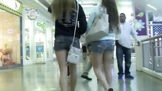 These classy teens in short shorts have no idea I am following them--_short_preview.mp4