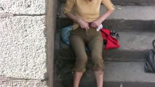 Lena doesn't mind to pee her pants in a public place--_short_preview.mp4