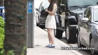 Broke brunette blows on the roof--_short_preview.mp4