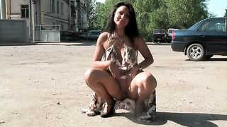 Magnificent amateur caramel skin teenie flashes her pussy upskirt--_short_preview.mp4