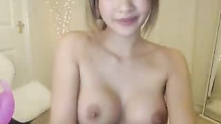 Frisky Asian bae with big fake boobs masturbating with sex toy--_short_preview.mp4